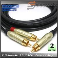 [2m] Kabel Subwoofer 1 - 2 RCA Amphenol Original