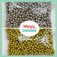 Stopper Mote Pembatas Beads Silver Gold Bola Bahan Aksesoris Jewelry
