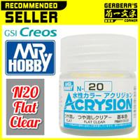 N20 Flat Clear Acrysion Water Based Acrylic Paint Mr Hobby Original