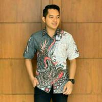 Baju batik tradisional fashion pria lengan pendek SF09