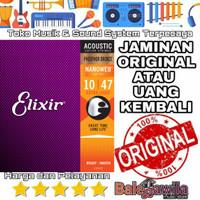 Senar Gitar Elixir Acoustic Phosphor bronze 16002 size 10 1 SET Ori