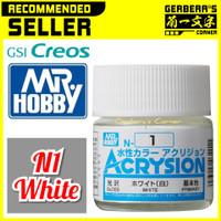 N1 White Acrysion Water Based Acrylic Paint Mr Hobby Original