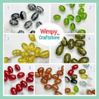 Glass Beads Mote Kaca Bahan Aksesoris Jewelry Finding Manik Kaca