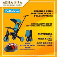 Bebehoo Gen 2 Sepeda 3 in 1 stroller bayi lipat/folding trike bebeho