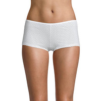 Boyshort Comfort Cotton Printed White