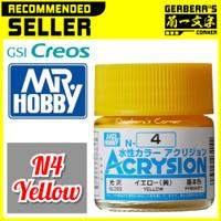 N4 Yellow Acrysion Water Based Acrylic Paint Mr Hobby Original