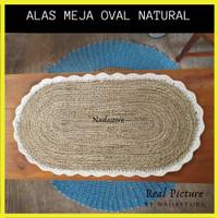 TAPLAK MEJA / TABLE RUNNER Ukuran 85 x 43 cm Anyaman Seagrass shubby