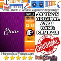 Senar Gitar Elixir Acoustic Phosphor bronze 16102 size 13 1 SET Ori