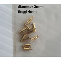Test Probes Pogo Pin Spring Loaded diameter 2mm tinggi 3 / 4 mm