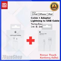 Charger dan Kabel Iphone Original - 1 Set Kabel 1m
