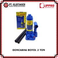 Dongkrak Botol 2 Ton Hydraulic Bottle Jack Dongkrak Mobil 2 Ton Lippro
