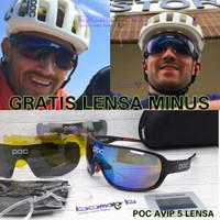 Kacamata Sepeda POC AVIP 5 LENSA SPORT GRATIS LENSA MINUS