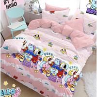 Bedcover Set Jaxine Sprei Katun Motif BT21 Sweet Dream Size Double