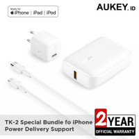 Aukey Special Bundling TK-2 For iPhone PD & QC Support - 500727