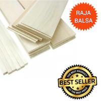 1pcs Balsa strip 4mm x 8mm balsa kayu maket kayu lis