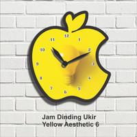 Jam Dinding Hiasan Pajangan Dekorasi Wall Decor Yellow Aesthetic 6