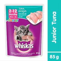 Makanan Kucing Basah Whiskas Pouch Junior 2-12 months Tuna 85gr
