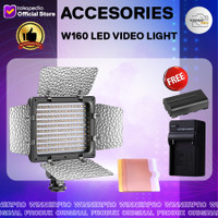 W160 LED Video Light Lamp Panel LEDs for Canon Nikon Sony DSLR Camera