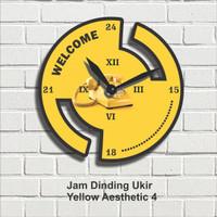 Jam Dinding Hiasan Pajangan Dekorasi Wall Decor Yellow Aesthetic 4