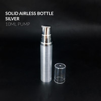 Botol Airless Pump 10 ML / Botol Serum 10ML Airless Pump Silver