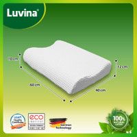 Luvina Bantal Massage / Pijat - 100% Latex - Ekonomis