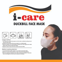 I-Care Masker Duckbill 3 Ply 1 Pack isi 50 Pcs Duck Bill