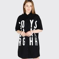 Kemeja Wanita / Acrux Black Shirt 22485D5BK - Ninety Degrees