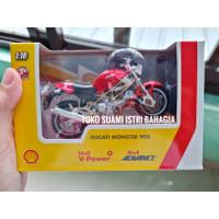 Shell Ducati Monster 900 Diecast Motor Mainan Hadiah V-Power Original