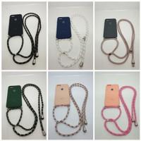 Oppo Realme 5 Softcase Rubber Anti Noda Case Lanyed Tali Gantung
