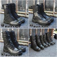 Sepatu PDL Safety Boot ujung Besi BLACK FORCE Sepatu PDH TNI POLRI