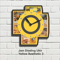 Jam Dinding Hiasan Pajangan Dekorasi Wall Decor Yellow Aesthetic 3