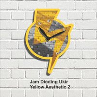 Jam Dinding Hiasan Pajangan Dekorasi Wall Decor Yellow Aesthetic 2
