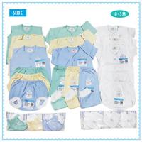 MIYO Paket Perlengkapan Baju Bayi Baru Lahir Newborn Putih Polos Warna