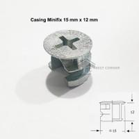 Casing Minifix Atau Casing skrup atau baut Knock down 15 mm