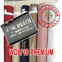 multi kain wolfis wolpis woolpeach woolfis premium rol per 50 yard