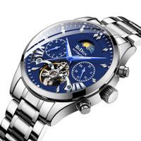 BIDEN jam tangan pria Mekanik Mewah Bisnis Tahan Air Jam Tangan