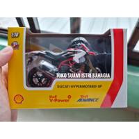 Shell Ducati Hypermotard Diecast Motor Mainan Hadiah V-Power Original
