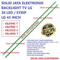 BACKLIGHT TV LG 43 INC 43LH540 43LH540T 43LH 43LF IN INCH 36 LED IN