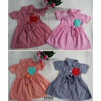 !!! FREE BANDO !!! Dress Baby Gaun Bayi Perempuan 6 - 18 Bulan - Merah