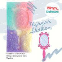 Silicone Mold Mirror Shaker Resin Cetakan Resin Clay Wimpy