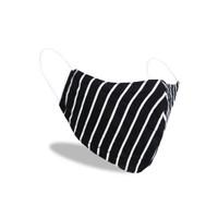 AMB35 2pcs Masker kain instacool 2ply bisa tissue earloop motif stripe