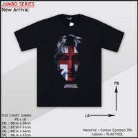 T-shirt Kaos Casual Pria Lengan Pendek Ukuran Besar 2xl-5xl