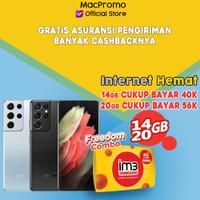 Samsung Galaxy S21 Ultra 12/256GB Bundle Indosat Garansi Resmi SEIN