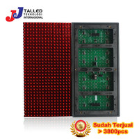 MODUL P10 MERAH RUNNING TEXT OUTDOOR TALLED