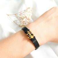 Gelang Wanita Jangkar Stainless steel cocok jadi Hadiah Bracelet Gold