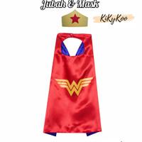 kostum anak wonder woman / jubah wonder woman