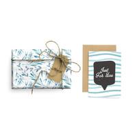 Paket Kertas Kado & Kartu Valentine Harvest Gift Set - Bubble Fern
