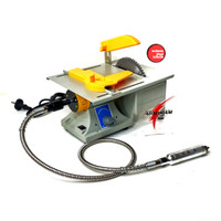 Mesin Mini Table Saw 6 Inch Tuner Poles Drill Variable Speed Taiwan