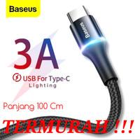 Kabel Data Type-C LED Baseus ORIGINAL - 1Meter