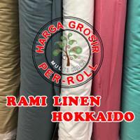 multi kain rami linen hokaido cotton katun roll an per 50 yard